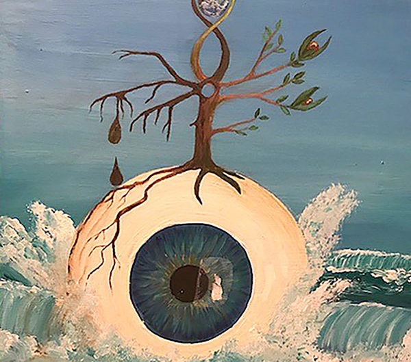 Auge im Großformat